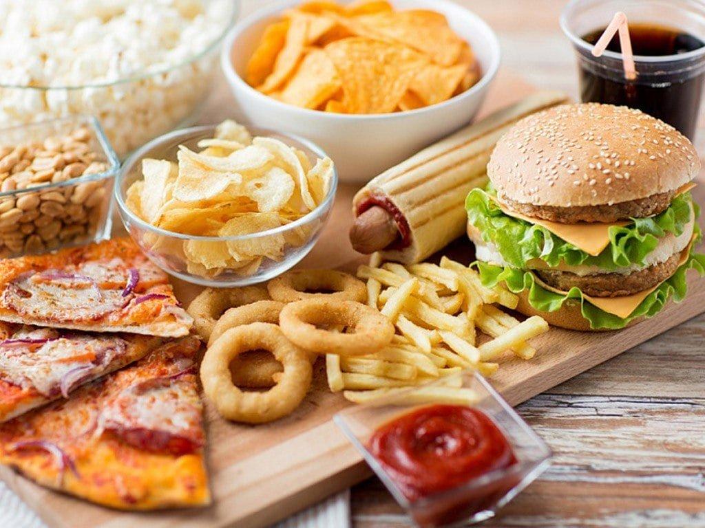 возникновение картинки о вредной еде колонна