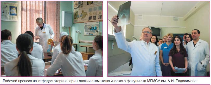 Рабочий процесс на кафедре оториноларингологии стоматологического факультета МГМСУ им. А.И. Евдокимова