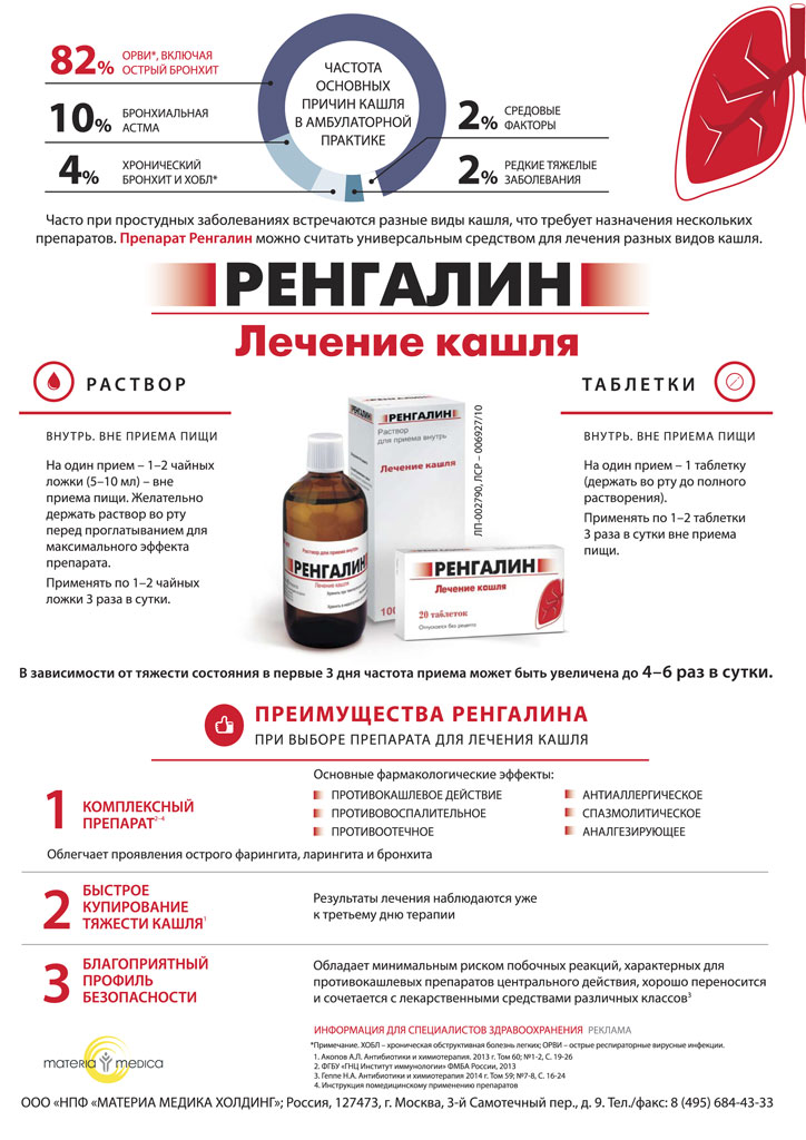 Регналин. Лечение кашля